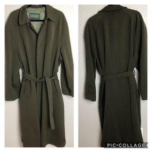Vintage Chaps Ralph Lauren Wool Trench Coat 42